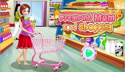 Pregnant Mom Food Shopping