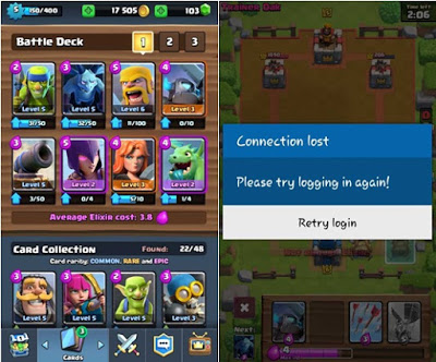 Connection Lost Clash Royale