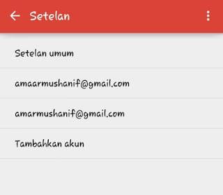 Tambahkan akun Gmail Android