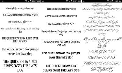 Fonts for FlipFont 50