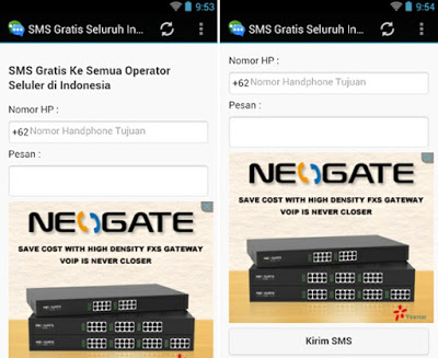SMS Gratis Seluruh Indonesia