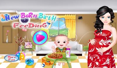 New Born Birth Feeding