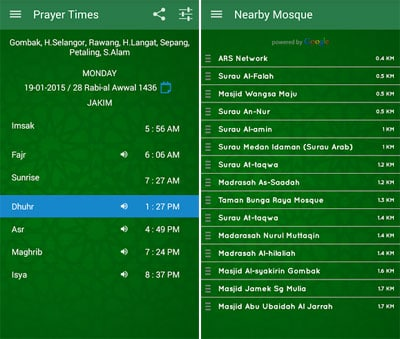 Jadwal Sholat -Kiblat,Azan,Doa