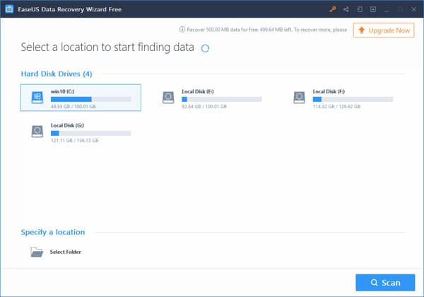 start EaseUS - Data Recovery Wizard