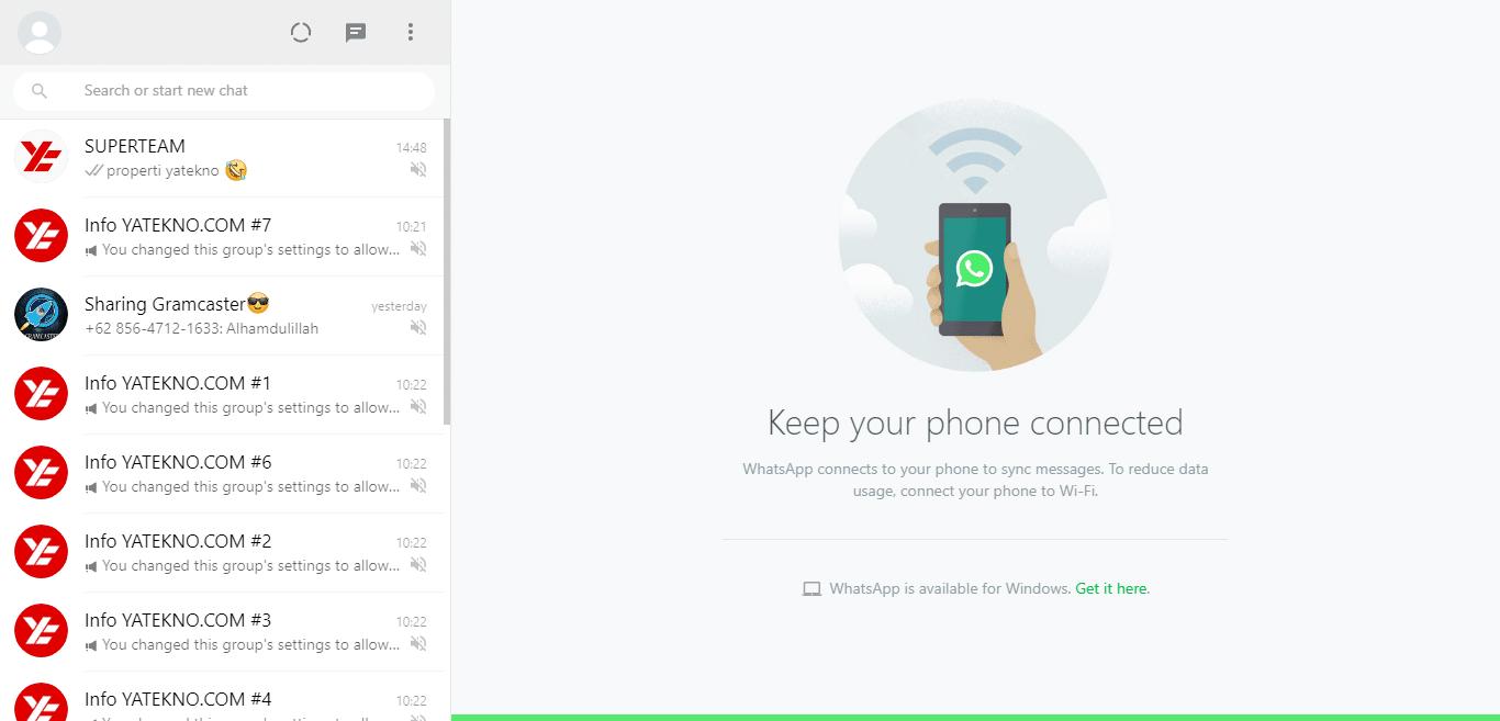 Whatsapp web terbuka