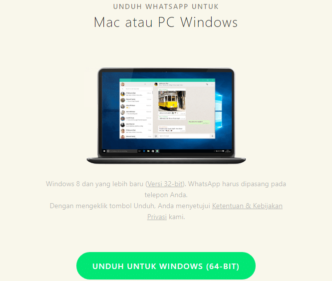 Aplikasi Whatsapp Web PC